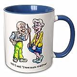 3dRose Jack of Arts Illustration - Elderly Couple with Angina - 11oz Two-Tone Blue Mug (mug_44575_6)
