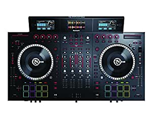 Numark NS7III | 4-Channel Motorized DJ Controller & Mixer with Screens and free Remix/Sampling Program downloads