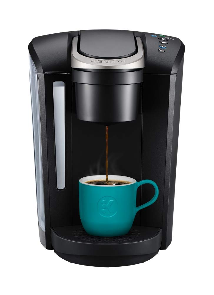 Keurig K-Select Coffee Maker, Single Serve K-Cup Pod Coffee Brewer, With Strength Control and Hot Water On Demand, Matte Black by Keurig