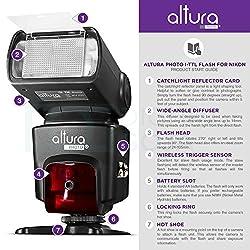 Altura Photo Professional Flash Kit For Nikon Dslr - Includes: I-ttl Flash (Ap-n1001), Wireless Flash Trigger Set & Accessories 1