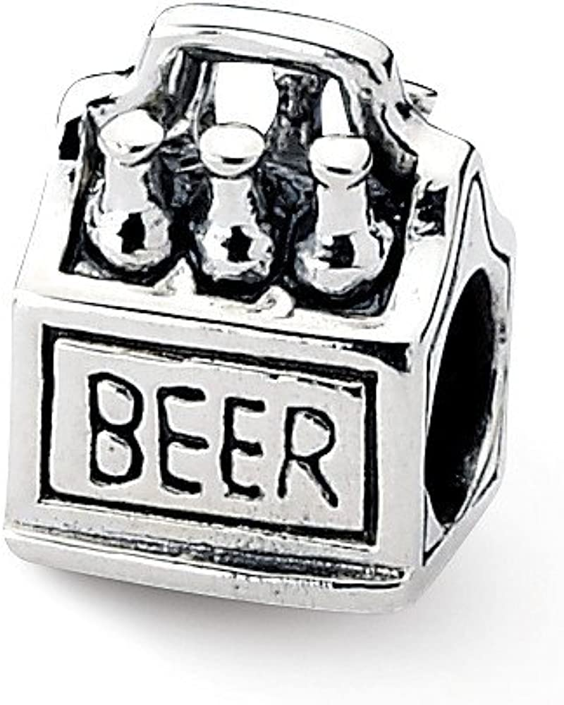 Jewelry Best Seller Sterling Silver Reflections 6-pack Beer Bead