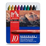 Neocolor I Water-Resistant Wax Pastels, 10 colors