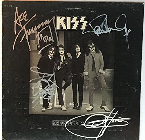 Kiss Group Signed Album Dressed To Kill Autographed Gene Simmons Paul Stanley Ace Peter Criss