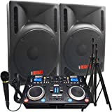 The Ultimate DJ System - 2400 WATTS! Perfect for Weddings or School Dances - Connect your Laptop, iPod or play CD\'s! - 15\