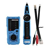 Monilon Tone Generator, Wire Tracer RJ45 RJ11 Multi-function Line Finder, Tone Generator and Probe Kit for Wire Tracing, Network Cable Collation, Telephone Line Test and Continuity Checking