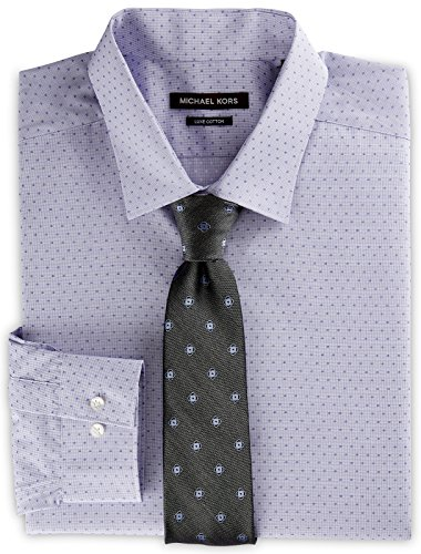 Michael Kors Dobby Dress Shirt Purple 18.5 - Destination Kors Michael