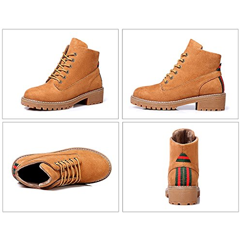 Women 's Martin boots autumn students personality fashion short boots ( Color : Brown , Size : US:6UK:5EUR:37 ) by LI SHI XIANG SHOP (Image #1)
