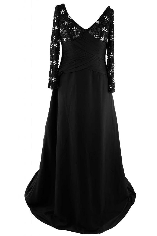 Sunvary Elegant Long Sleeves A-Line V-Neck Pageant Evening Dress Mother's Dress