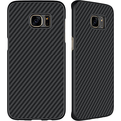 Galaxy S7 Edge Case, SANMIN Nillkin [Black] Ultra Slim Light Carbon Fiber Armor Case Cover for Galaxy S7 Edge - Fibre Case