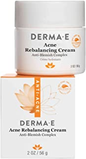 product image for DERMA E Acne Rebalancing Cream, Prevents Blemishes, 2 oz – Skin-balancing formula - Soothes blemishes, acne and blackheads – Moisturizing Cream Lotion for face - acne control promotes clear skin