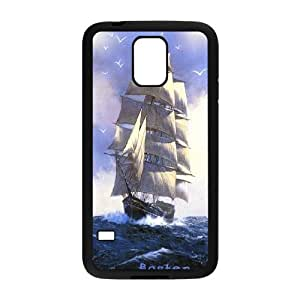 Tall sailing,Pirate Ship series protective case cover For Samsung Galaxy S5 SAIL-021-S2488
