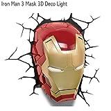 Cheap 3D Light FX [IRON MAN 3] mask type light <3DDecoLight> Avengers