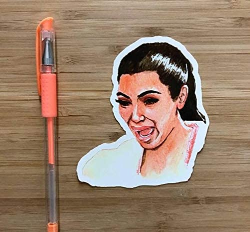 Amazon Com Kim Kardashian Funny Internet Meme Vinyl Sticker Reality Tv Star Funny Vinyl Sticker Funny Internet Memes Pop Culture Sticker Armenian Gift Armenia Kitchen Dining