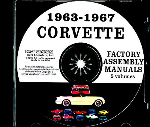 A MUST FOR OWNERS, MECHANICS & RESTORERS 1963 1964 1965 1966 1967 CHEVROLET CORVETTE FACTORY ASSEMBLY INSTRUCTION MANUAL CD IN 5 VOLUMES - INCLUDES ALL MODELS. 63 64 65 66 67. CHEVY (64 65 66 67 Corvette)