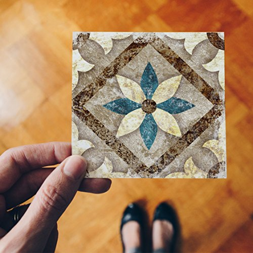 Fymural Diagonal Floor Stickers Morocco for Livingroom Tiles Art Home Removable Vniyl Decoration 20PCS 4x4 Inch