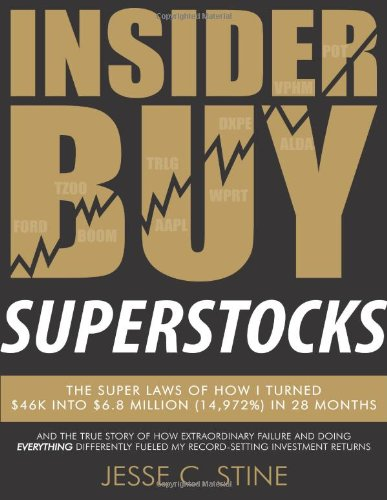 Insider Buy Superstocks: The Super Laws of How I Turned $46K into $6.8 Million (14,972%) in 28 Months by Superstock Letter