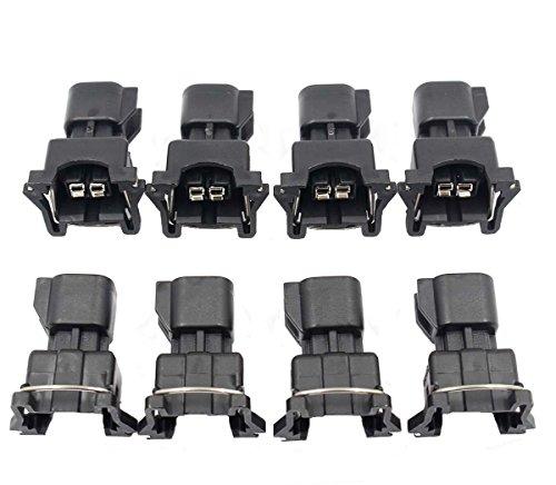 (GooDeal 8pcs Fuel Injector Connector Adapter EV6 to EV1 USCAR LS2 LS3 LSX LS1 LT1 TPI)