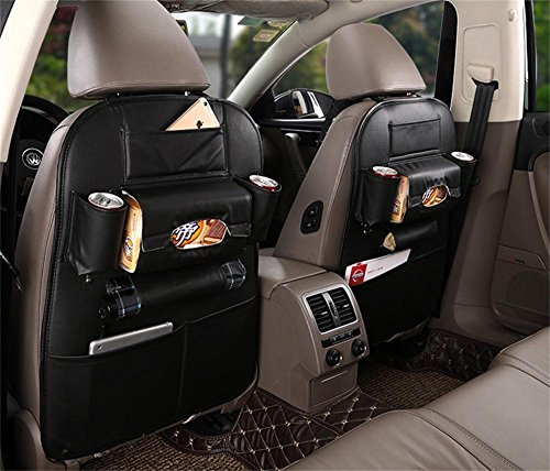 Oroyal Car Organizer Heavy Duty Multifunction Made with PU Leather Luxurious Classic Design (One Pair Set) (Black-12150111) (Toyota Rav 4 2014 Seat Covers compare prices)