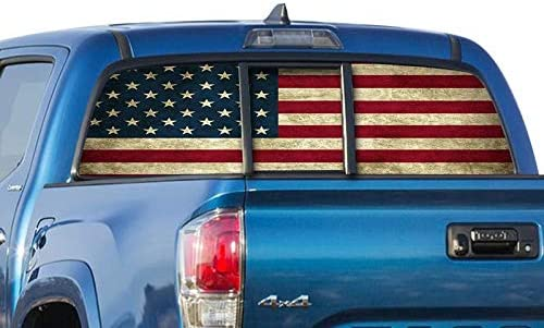 USA flag Hood vinyl sticker decal Fits F150 F250 F350 FREEDOM Distressed