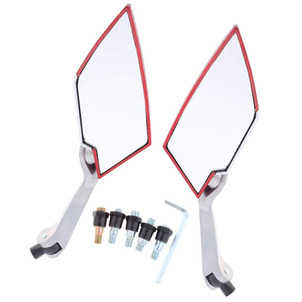 KESOTO 1 Paar Universal Motorrad Lenker Spiegel Seitenspiegel R/ückspiegel Aussenspiegel mit Schrauben 360/° Drehbar Gr/ün