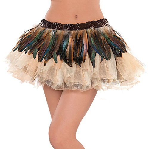 Faux Owl Feather Belt Brown