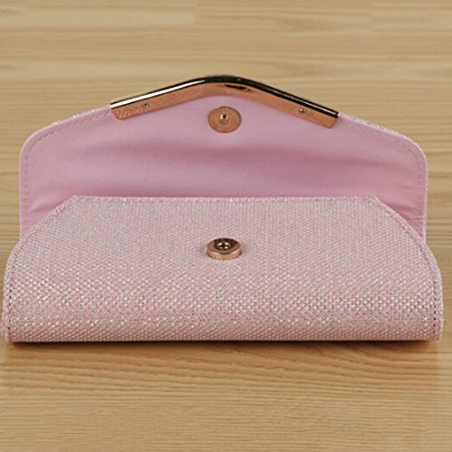 Cocktail Clutch Deals Evening Purse Clearance Bling Women's Pink Bag Wedding Glitter Party angel3292 Luxury FHq0pw7C