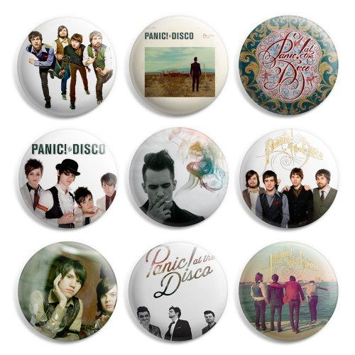 Panic At The Disco Pinback Buttons Pin Badges 1 Inch (25mm) - Pack of (Photo Pinback Button)