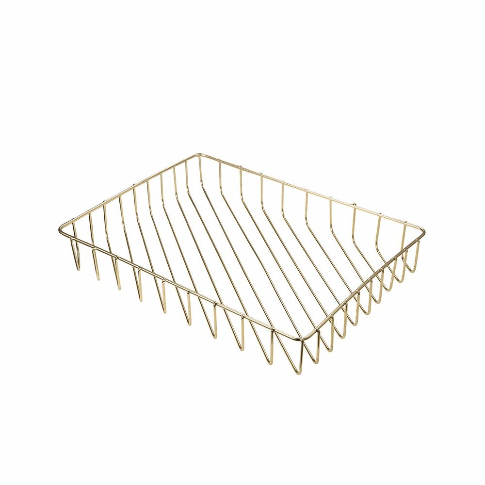 Office Supplies Metal Stackable File Document Letter Tray Organizer for Desk, Gold Tong Yue