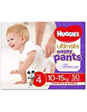 Huggies Ultimate Nappy Pants, Unisex, Size 4 (10-15kg), 50 Count