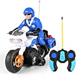 Liberty Imports RC Police Patrol Motorcycle Remote Control Motor Bike for Kids