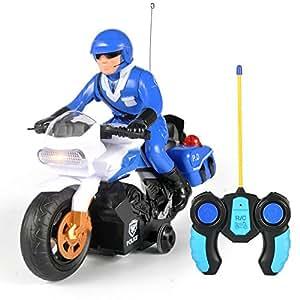 Amazon.com: RC Police Patrol Motorcycle Remote Control ...