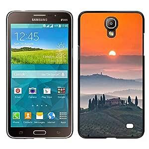 EJOY---Cubierta de la caja de protección para la piel dura ** Samsung Galaxy Mega 2 ** --Vino Tosca Paisaje Amanecer