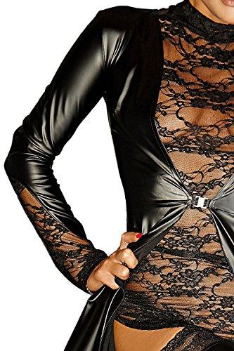 mujer Handmade trenca Noir Abrigo para wqIdY77x