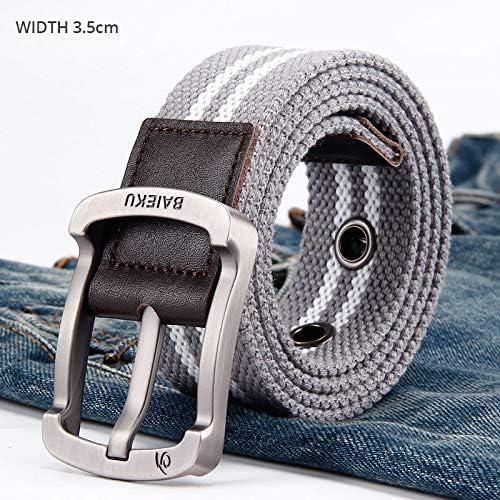 WN.ROPP Mans Canvas Designer Belts Men for Mens Jeans Female Casual Fashion Tactical Belt 105-140Cm Pin Buckle