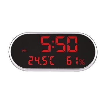 SHUAIGE Despertador/Reloj Despertador con Espejo LED/Doble USB para Cargar el teléfono móvil Reloj Multifuncional: Amazon.es: Deportes y aire libre