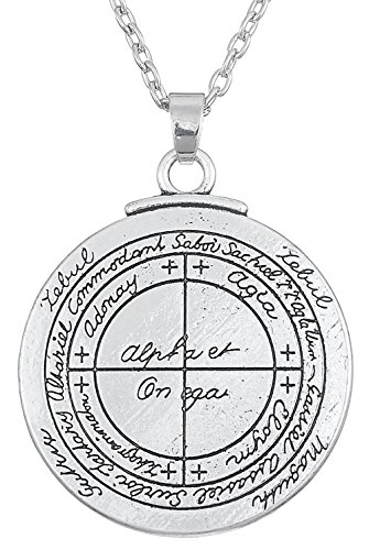 Dawapara Ancient Talisman for Good Luck Pendant Seal of Solomon Amulet Hermetic Kabbalah Jewelry for Men Women (link chain)