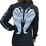 Country Life Guns and Angel Wings Black and Silver Long Sleeve Shirt (X-Large) offers