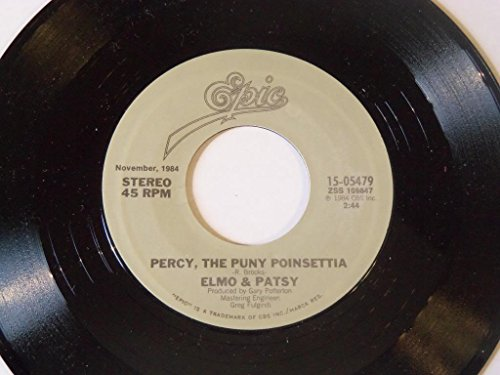 Grandma Got Run Over By A Reindeer / Percy the Puny Poinsettia 45 rpm vinyl record by Elmo & Patsy (Elmo & Patsy Percy The Puny Poinsettia)