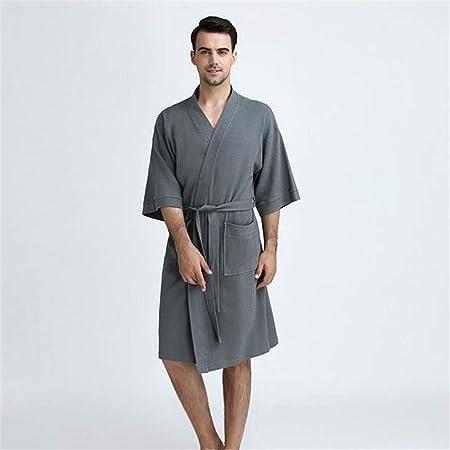ZSDGY Ropa de algodón para Sudar/Pijamas de algodón/Kimono camisón para Mujer/Bata de baño de Manga Corta F-M: Amazon.es: Hogar