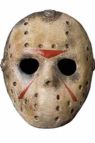 [Friday the 13th Jason Voorhees Hockey Mask Foam Halloween Costume Accessory] (1980s Movie Character Costumes)