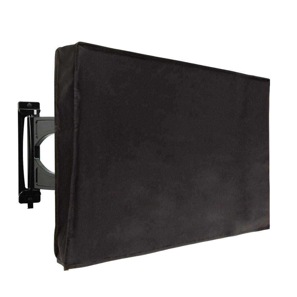 TV Outdoor Cover - 60'' - 65'' TV Weatherproof Cover, Universal Television Protector for Flat Screens, Waterproof and Dust Resistant, Black by Juvale