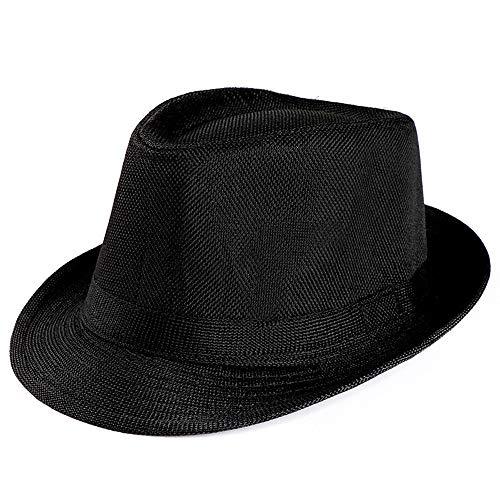 Farmerl Design Unisex Cuban Trilby Gangster Cap Beach Sun Straw Hat Band Sunhat