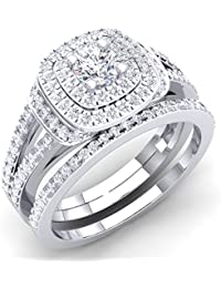 Certified 4 Ct Cushion Diamond In Solid 14k White Gold Solitaire Engagement Ring Spare No Cost At Any Cost Fine Jewelry Jewelry & Watches