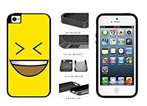 Bright Yellow Evil Grin with Teeth Smiley Face 2-Piece Dual Layer Phone Case Back Cover Apple iPhone 4 4s