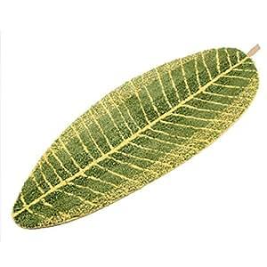 Amazon Com Luxbon Green Leaf Shaped Oval Bathmat Living