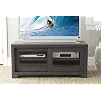 Safavieh Home Collection Davis Sliding Door TV Cabinet, Dark Brown