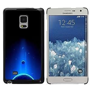 La ascensión Celestial - Metal de aluminio y de plástico duro Caja del teléfono - Negro - Samsung Galaxy Mega 5.8