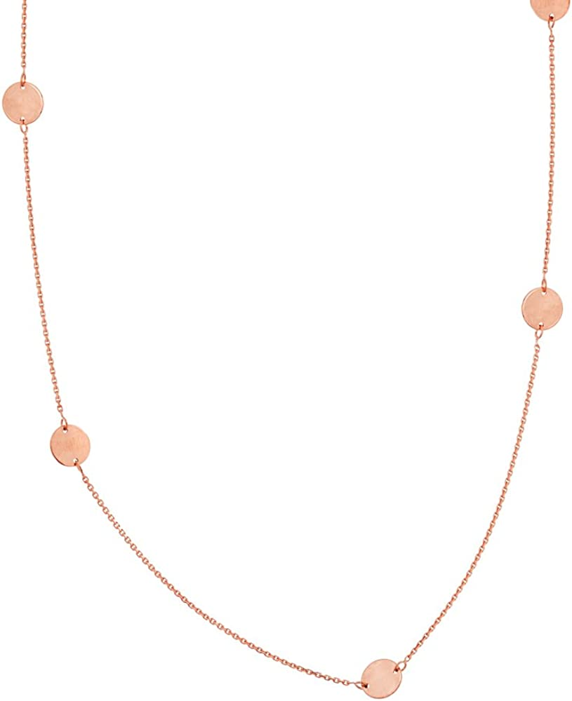 6Pc 6Mm Disc Station Adk.Necklace W//Lob