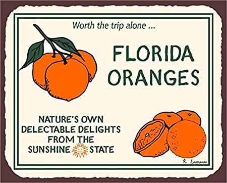 Antique Photo Carrying Oranges in Florida