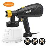 Paint Sprayer Electric Spray Gun - Teccpo 27oz(800ml)/Min HVLP Sprayer with 3 Spray Pattern, 3-Size Copper Nozzle, Adjustable Valve Knob and 45oz/1300ml Container for Indoor and Outdoor Home Project